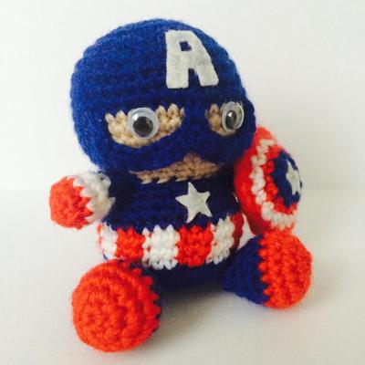 Amigurumi Capitán América