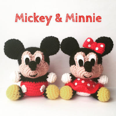 Patron Amigurumi Mini Mouse : donpatron - Pack 2 en 1 - Mickey Mouse and Minnie Mouse ...