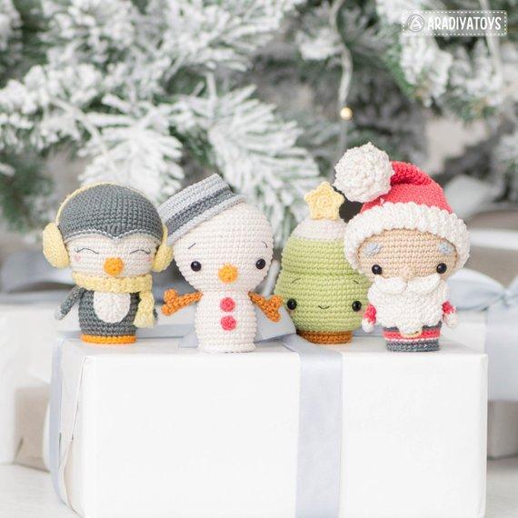 Amigurumi Navidad Algodón 6 Cabos Aguja Revista Kit 12 - $ 1.100 ... | 570x570