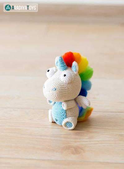 donpatron - Crochet Patrón de unicornio Corki de \