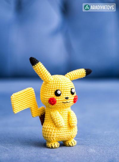 Pikachu En Amigurumi : donpatron - Patron de crochet Pikachu Pokemon