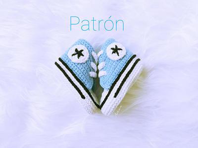 Patrón crochet zapatillas bebé