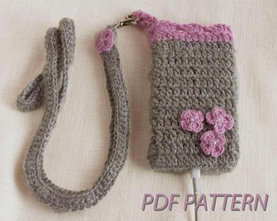 Patrón para tejer a crochet una funda para móvil