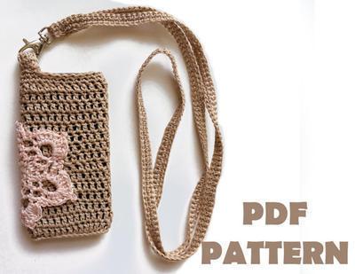 Patrón para tejer a crochet una funda para móvil de cualquier tamaño