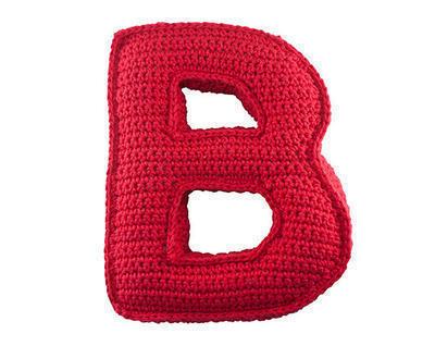 Patrón ganchillo letra B