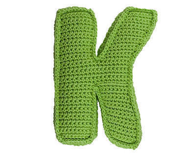 Patrón ganchillo letra K