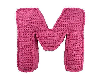 Patrón ganchillo letra M