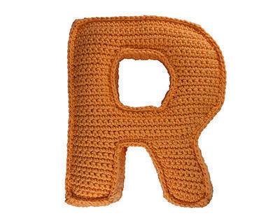 Patrón ganchillo letra R