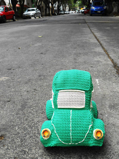 Beetle antiguo a crochet