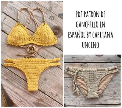 PDF PATRON de Ganchillo Bikini Marina