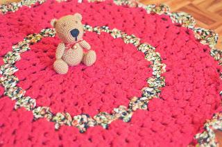 Donpatron alfombra redonda de trapillo for Alfombra redonda verde