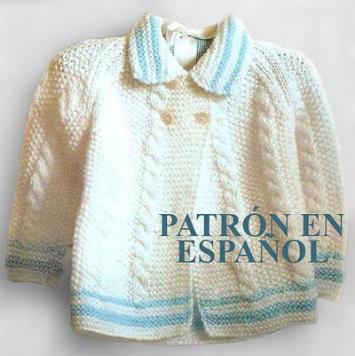 Patrón en español de jersey para bebé de 12 meses