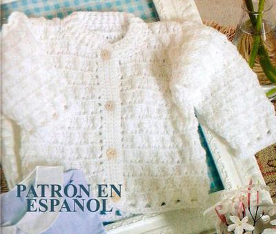 donpatron - Patrón en español de rebeca para bebe a crochet