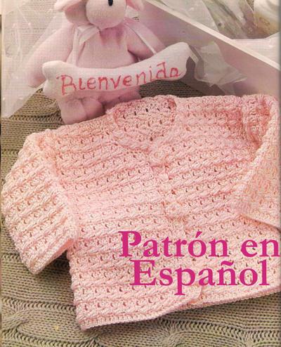 Sweater de recién nacido a ganchillo (Patrón PDF)
