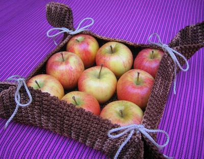 Canasta en tapestry para la fruta