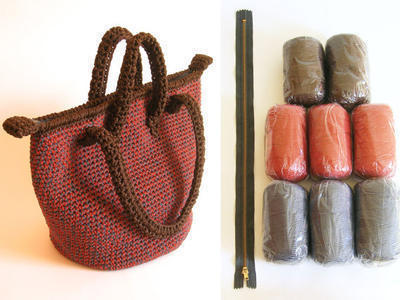 Kit de materiales para tejer bolso de doble asa