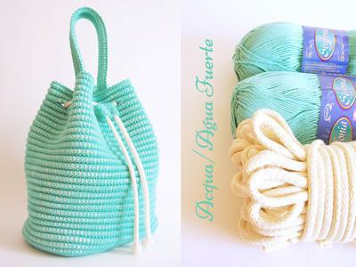Kit de materiales para tejer bolso jareta
