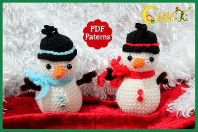 Patrón adorno de navidad muñeco de nieve