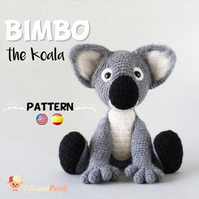 Patrón crochet Koala Amigurumi pdf tutorial - BIMBO el Koala | donpatron