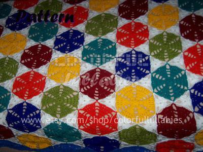 Alegría manta de hexágonos y triángulos