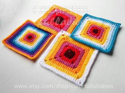 Crochet Squares Pattern Cuadrados De Ganchillo Patrones - Cuadrados ...