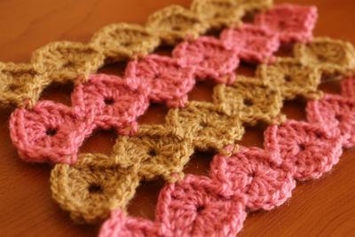 Círculos modulares a crochet