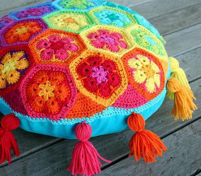 Flor africana a crochet