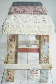 DIY Decora un taburete a trapillo
