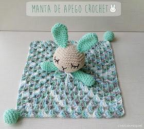 Manta de apego conejito a crochet