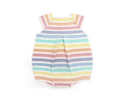 Patrón de Pelele Arcoíris de bebé
