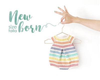Talla RECIÉN NACIDO- Patrón de Pelele Arcoíris de bebé