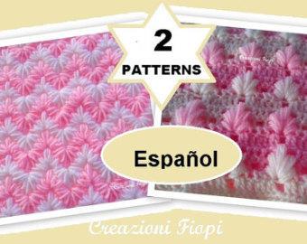 2 patrones de ganchillo para hacer mantita de bebé a crochet