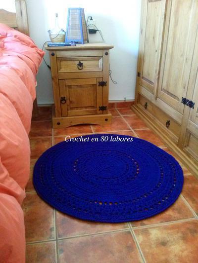 Donpatron patr n f cil para una alfombra de trapillo muy vistosa - Alfombra trapillo facil ...