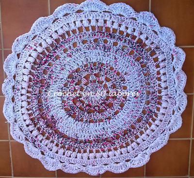 Donpatron patr n para una alfombra de trapillo o totora - Alfombra trapillo facil ...
