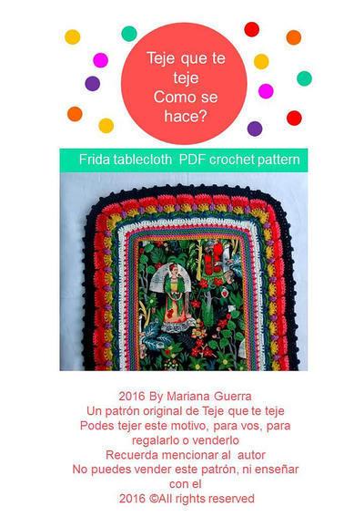 Patrón Camino de Mesa Frida Khalo