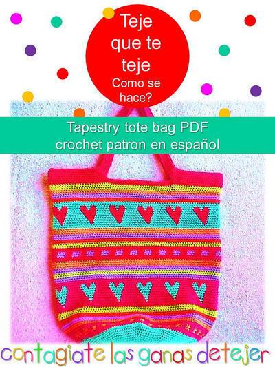 Tapestry Tote Bag Patrón en Español