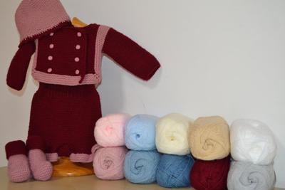 Kit para realizar este bonito conjunto para un bebe de 1 a 3 meses