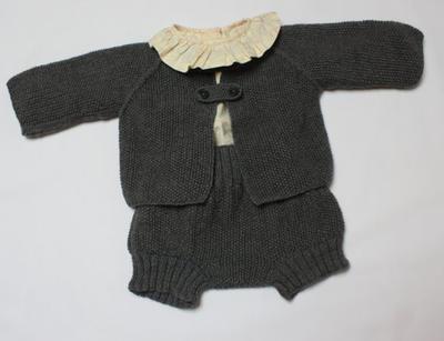 Donpatron patr n para chaqueta y cubre en punto de arroz talla 3 6 meses - Tejer chaqueta bebe 6 meses ...