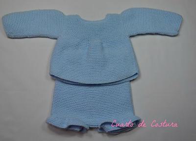Patrón para conjunto de jersey y pantalón para bebe de 1 a 3 meses