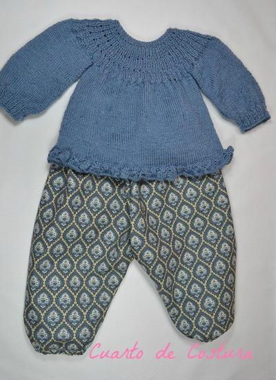 Patron para jersey con canesu de canale para bebés de 1 a 3 meses