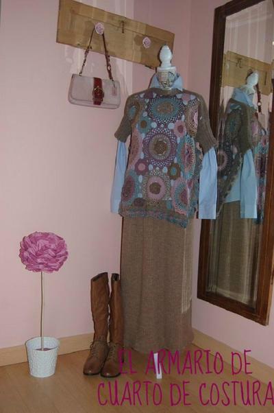 Patrón para jersey de rosetones a ganchillo