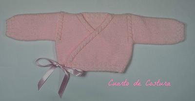 Patrón para la confeccion de chaqueta cruzada para recien nacido