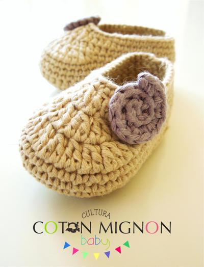 Zapatitos para recién nacido a crochet