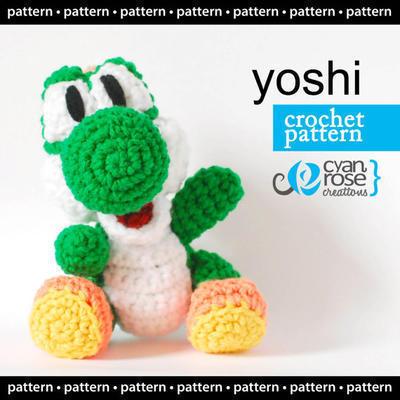 Yoshi - Patrón de Crochet amigurumi