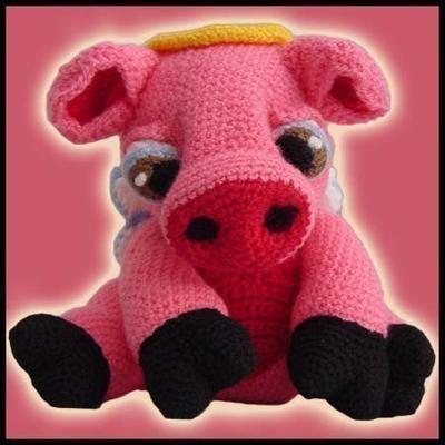 Amigurumi Crochet Patrón pdf - Angie, el cerdo