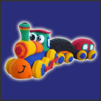 Amigurumi Pattern Crochet - Happy Train