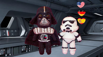 Amigurumi Crochet de Star Wars - Darth Vader - Stormtrooper