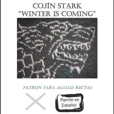 Cojín Stark (Juego de Tronos) para agujas rectas