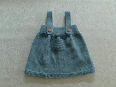 Cómo hacer un pichi de lana para niña de 6 meses