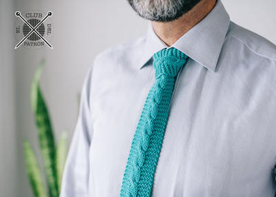 El Club del patrón: corbata de punto con trenza